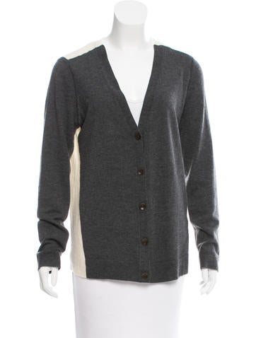 Rag & Bone Wool Rib Knit Cardigan None