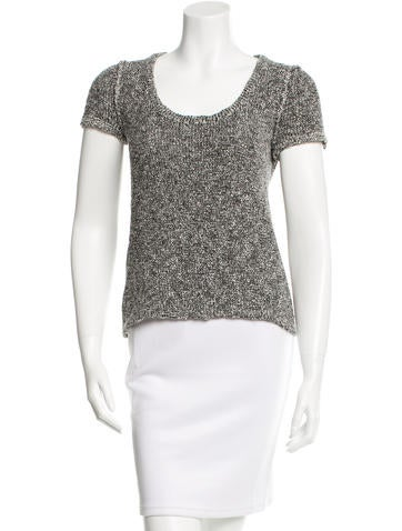 Rag & Bone Knit Short Sleeve Top None