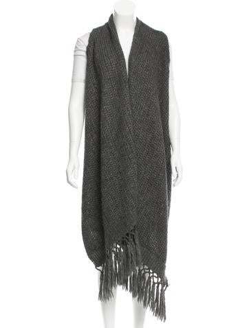 Rag & Bone Wool Fringe-Accented Cardigan None