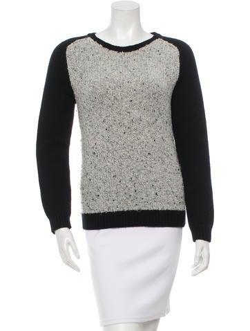 Rag & Bone Colorblock Rib Knit Sweater None