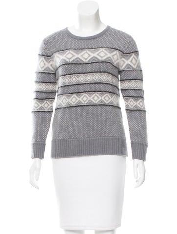 Rag & Bone Patterned Rib Knit Sweater None