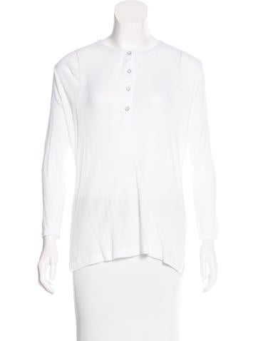 Rag & Bone Button-Up Knit Top None
