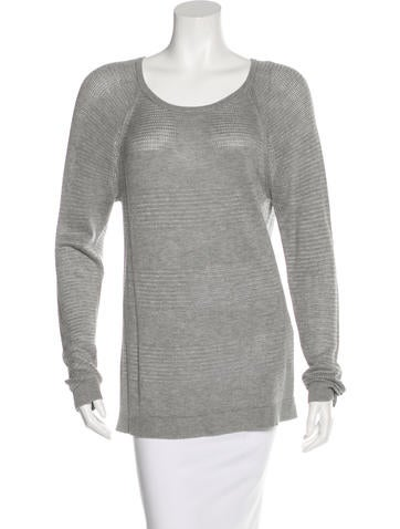 Rag & Bone Eyelet-Accented Long Sleeve Sweater None