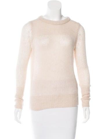 Rag & Bone Cashmere Open Knit Sweater None