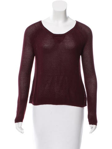 Rag & Bone Rib Knit Perforated Sweater None