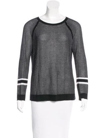 Rag & Bone Mesh Crew Neck Sweater None