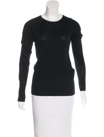 Rag & Bone Cashmere Rib Knit Top None