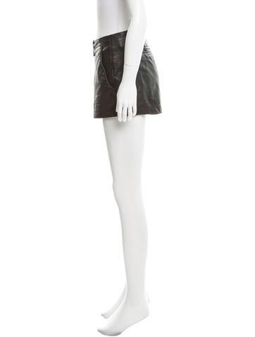 Leather Mini Shorts