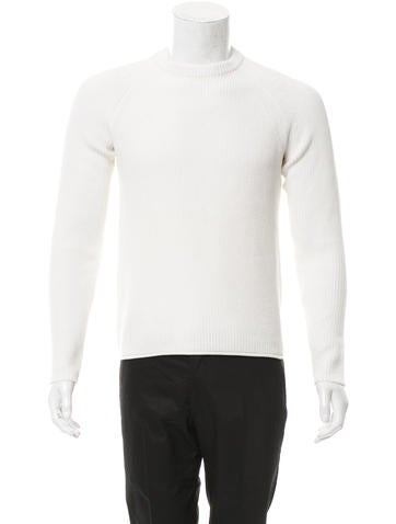 Rag & Bone Rib Knit Crew Neck Sweater None