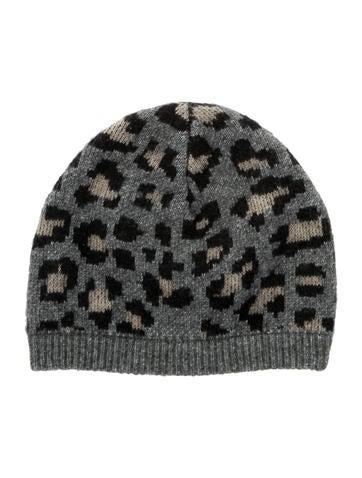 Rag & Bone Leopard Print Knit Beanie None