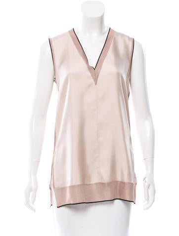 Rag & Bone Silk V-Neck Top None