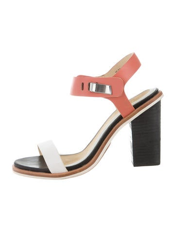Rag & Bone Colorblock Ankle-Strap Sandals