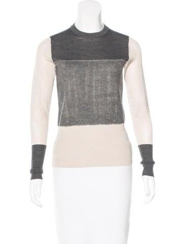 Rag & Bone Paneled Wool Sweater