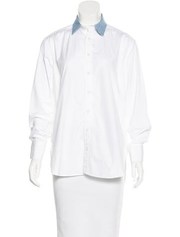 Rag & Bone Collared Button-Up Top w/ Tags