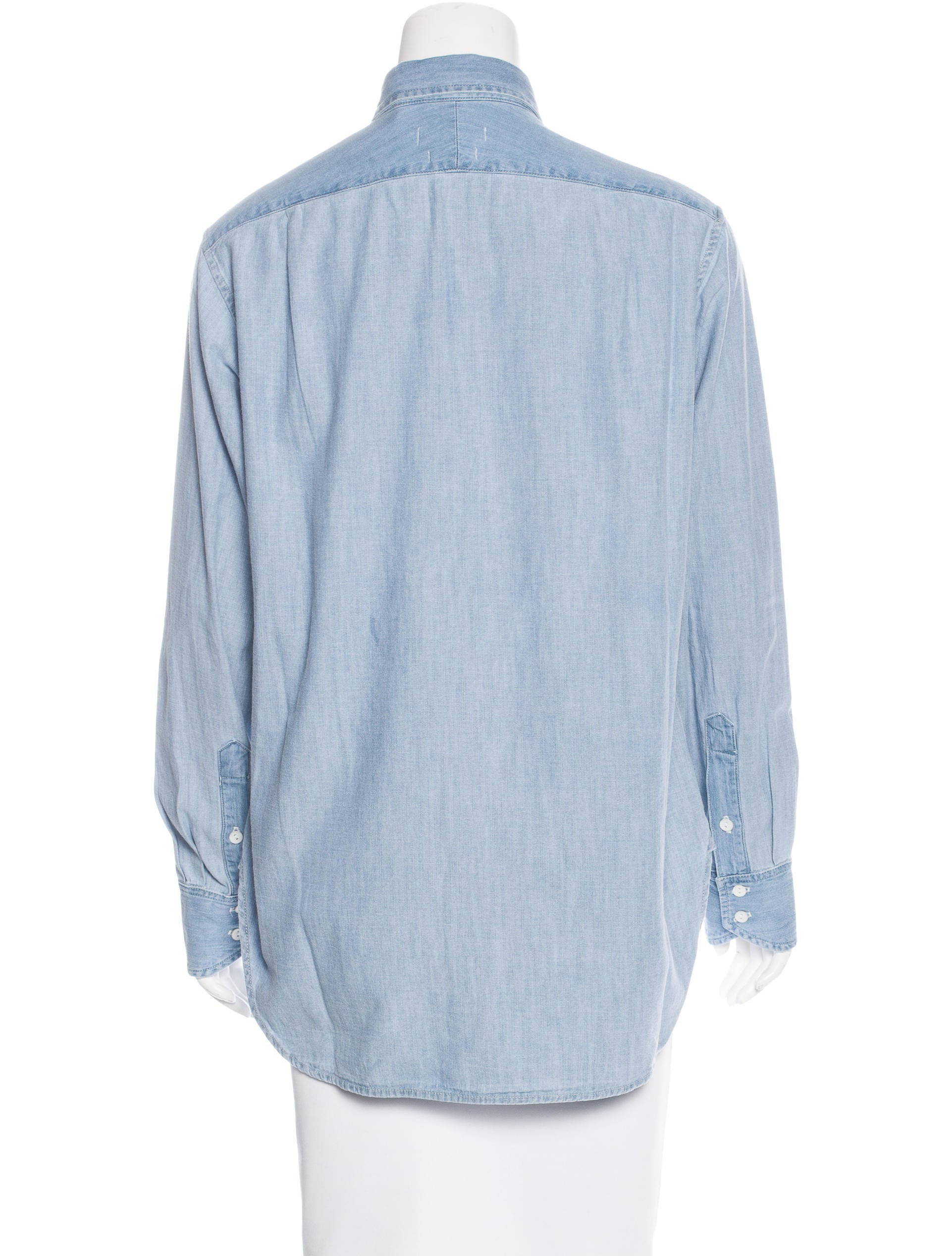 Rag bone chambray button up top w tags tops for Chambray top