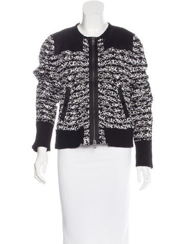 Rag & Bone Collarless Zip-Up Jacket None