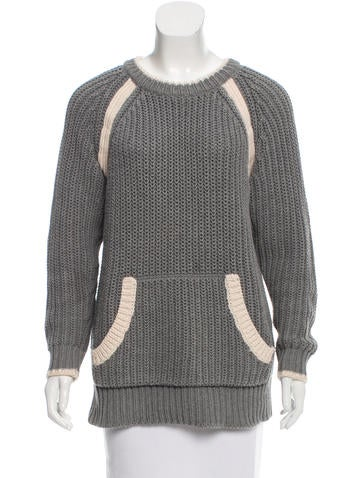 Rag & Bone Rib Knit Scoop Neck Sweater None
