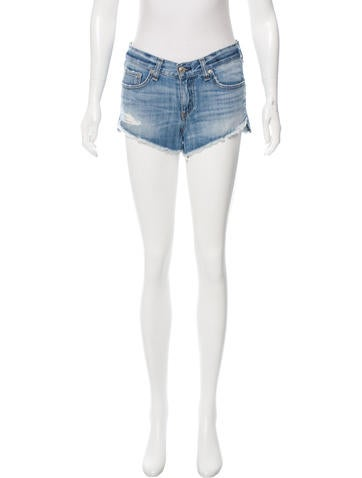 Rag & Bone Distressed Denim Shorts None