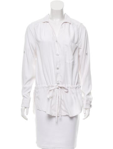 Rag & Bone Contrast Button-Up Top None