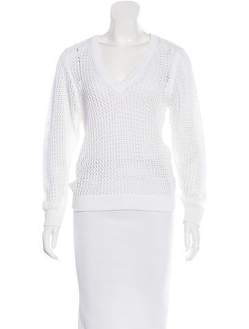 Rag & Bone Open Knit V-Neck Sweater None