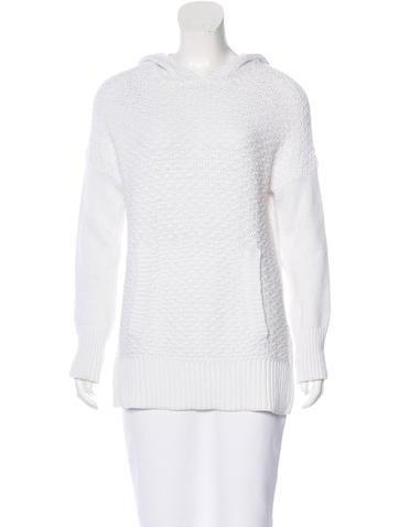 Rag & Bone Open Knit Hooded Sweater None