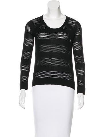 Rag & Bone Open-Knit Striped Sweater None
