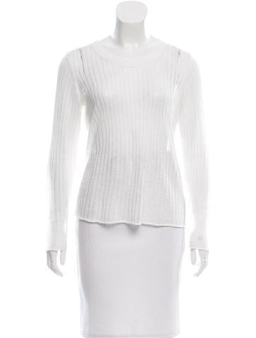Rag & Bone Linen Rib Knit Top None