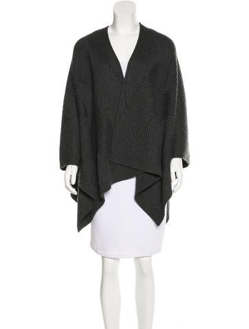 Rag & Bone Rib Knit Wool Poncho None