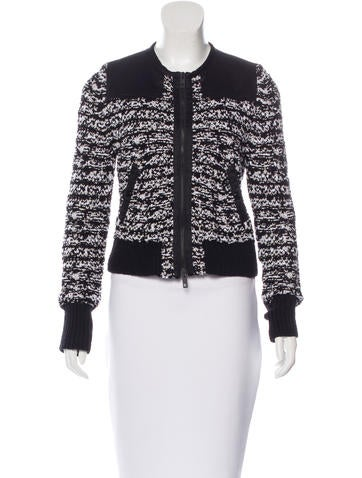 Rag & Bone Tweed Collarless Jacket None