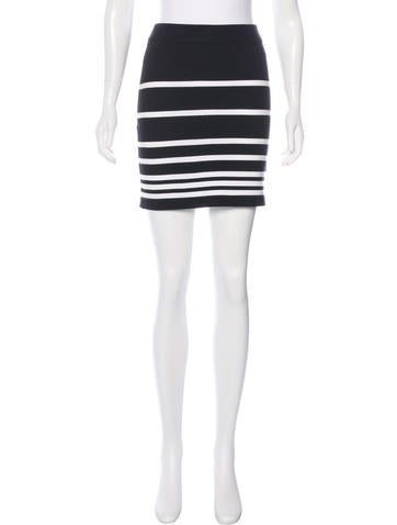 Rag & Bone Striped Rib Knit Skirt w/ Tags None