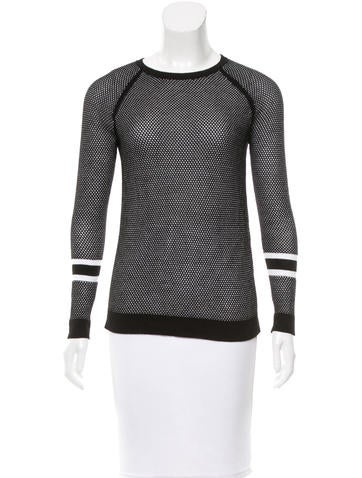Rag & Bone Open-knit Long Sleeve Top None