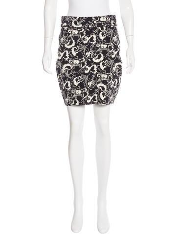 Rag & Bone Floral Pattern Knit Skirt w/ Tags None