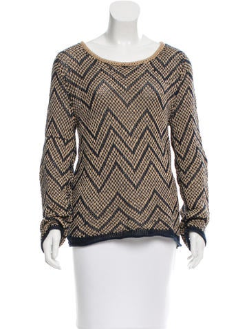 Rag & Bone Patterned Knit Sweater None