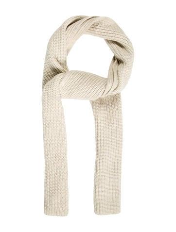 Rag & Bone Rib Knit Wool Scarf None