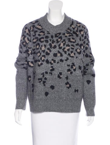 Rag & Bone Leopard Pattern Oversize Sweater None