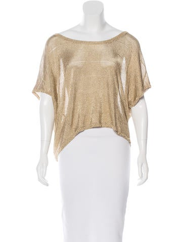 Rag & Bone Metallic Knit Top None
