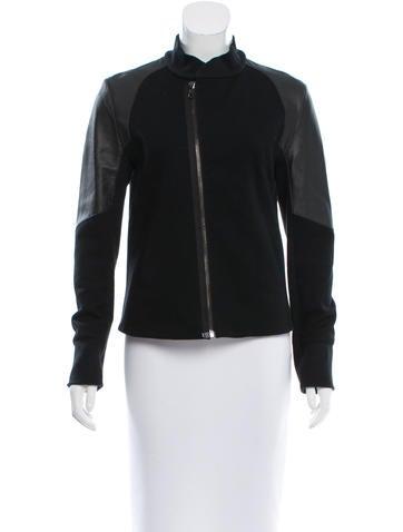 Rag & Bone Leather-Paneled Lightweight Jacket None