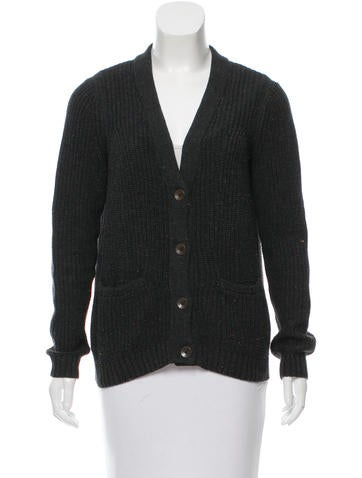 Rag & Bone V-Neck Button-Up Cardigan None
