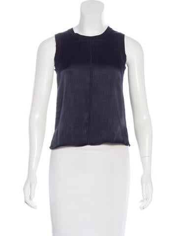 Rag & Bone Sleeveless Crew-Neck Top None