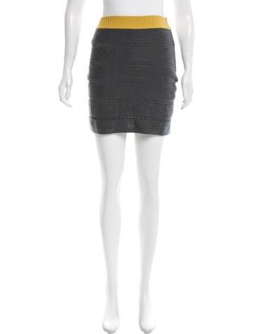 Rag & Bone Rib Knit Mini Skirt None