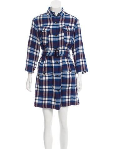 Rag & Bone Belted Plaid Dress