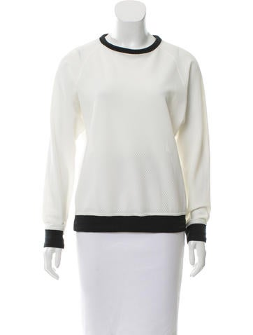 Rag & Bone Crew Neck Textured Top
