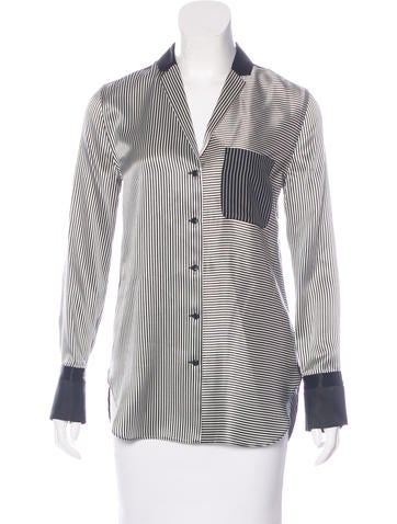 Rag & Bone Striped Silk Top