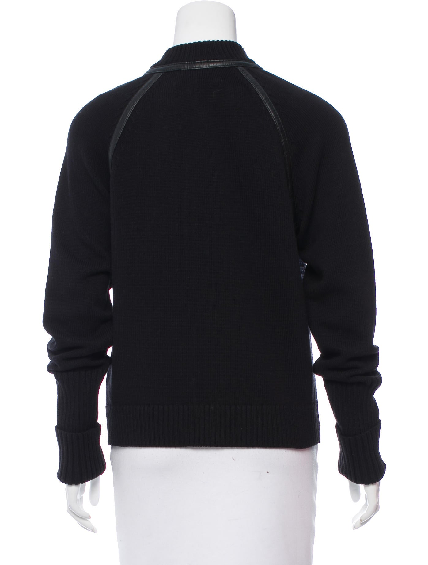 Rag Amp Bone Leather Trimmed Sweat Jacket W Tags Clothing