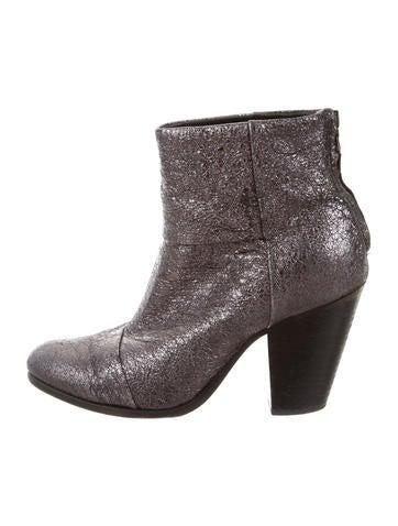 Metallic Newbury Ankle Boots