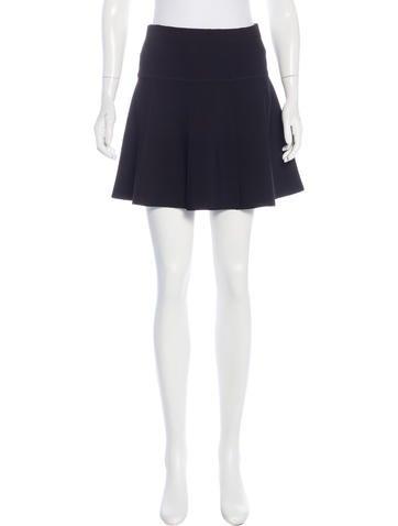 Rag & Bone Rib Knit A-Line Skirt None