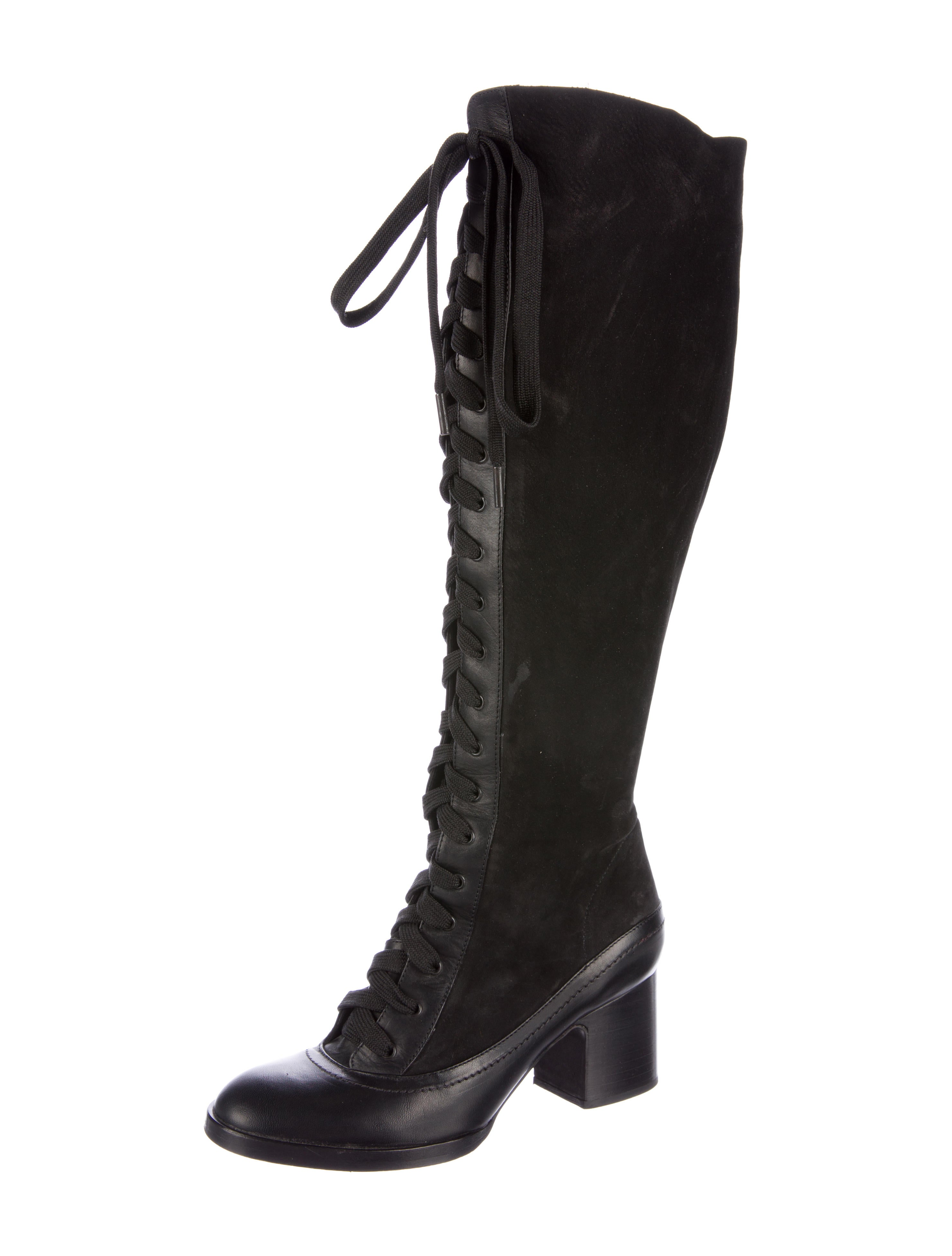 rag bone lace up knee high boots shoes wragb62984