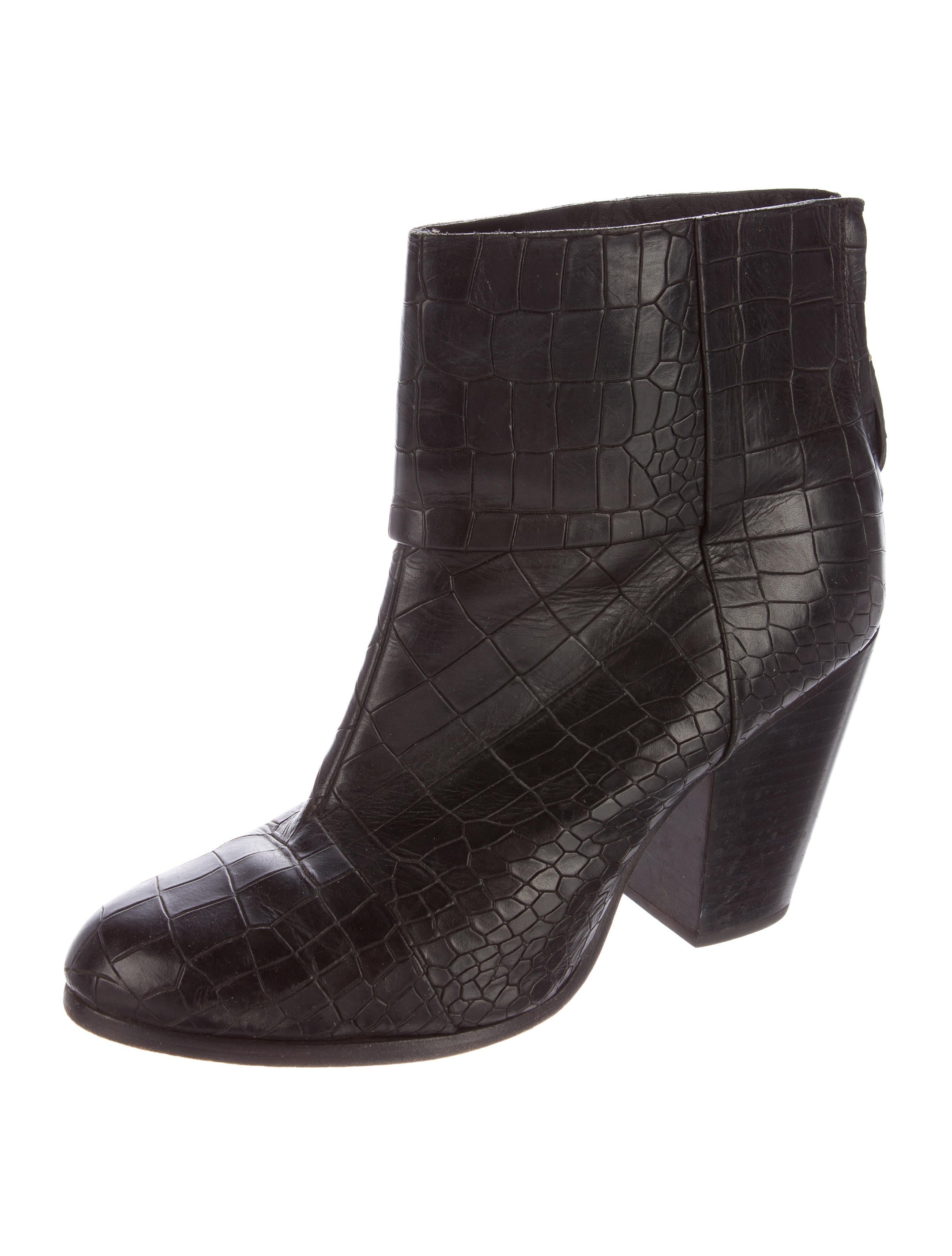 rag bone embossed leather boots shoes wragb62990