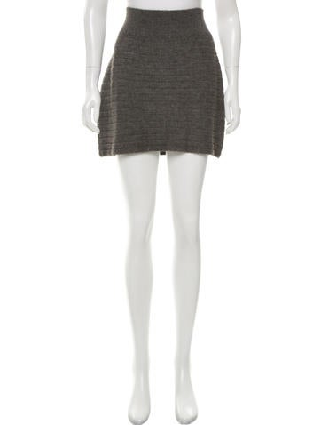 Rag & Bone Rib Knit Mini Skirt None