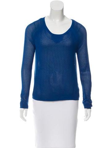 Rag & Bone Open Knit Scoop Sweater None